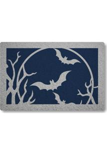 Tapete Capacho Morcegos - Azul Marinho