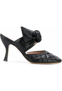 Gia Couture Sandália De Couro Kendall - Preto