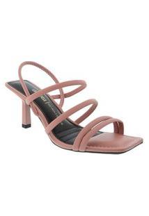 Sandália Dakota Salto Fino Com Tiras Rosa