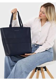 Bolsa Morena Rosa Shopping Duo Azul-Marinho