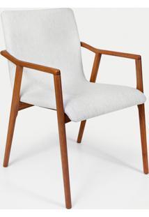 Cadeira Para Sala De Jantar Betina Cor 101 Tecido Mod 06 - Bege - Feminino - Dafiti