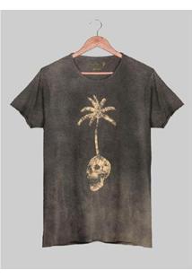 Camiseta Estonada Corte À Fio Joss Skull Island Masculina - Masculino