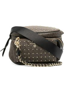 Michael Michael Kors Stud Detail Crossbody Bag - Marrom