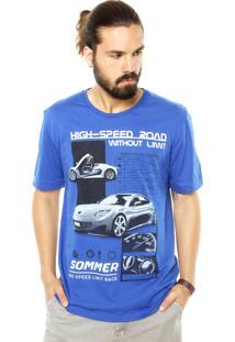 Camiseta Sommer High-Speed Azul