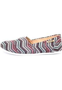 Alpargata Quality Shoes Étnico Feminina - Feminino-Azul+Rosa
