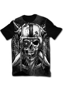 Camiseta Manga Curta Stompy Tattoo 76 Preto