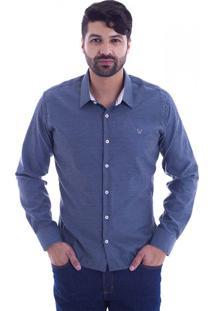 Camisa Slim Fit Live Luxor Mescla Escuro 2112 - Gg