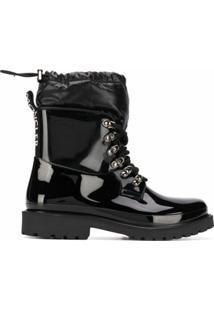 Moncler Ankle Boot Galaxite Com Recorte Matelass㪠- Preto
