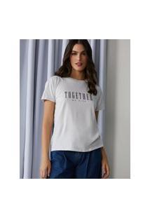 Amaro Feminino T-Shirt Together We Rise, Gelo
