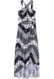 Vestido Longo Estampa Digital Malwee