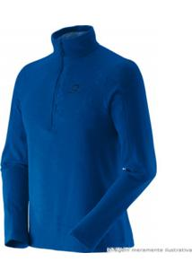 Blusa Salomon Polar 12 Zip Ii Masculino Azul Yonder Gg