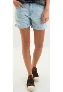 Bermuda Le Lis Blanc Dl Delave Algarve Jeans Azul Feminina (Jeans Claro, 36)