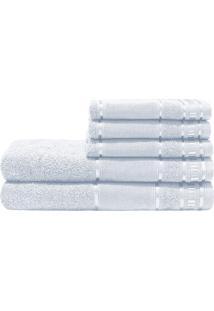Jogo De Banho Dourados Enxovais Premium Branco 285 G/M² 100% Algodão 05 Peças
