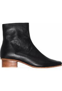 St. Agni Ankle Boot Clementi Com Salto 40Mm - Preto