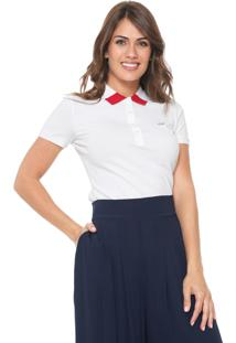 bae12d70f972a Camisa Pólo Acinturada Lacoste feminina. Camisa Polo Lacoste Logo Branca