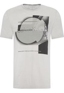 Camiseta Masculina Estampa E Costas Flame - Cinza