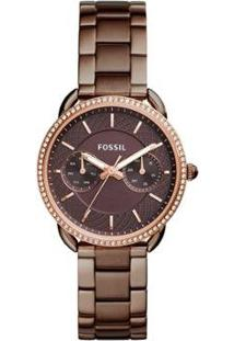 Relógio Fossil Feminino Tailor - Es4258/4Mn Es4258/4Mn - Feminino-Marrom