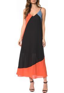 Vestido Midi Recortes - 36