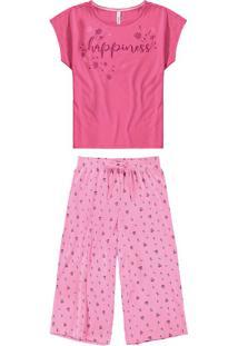 Pijama Pantacourt Happiness Malwee Liberta