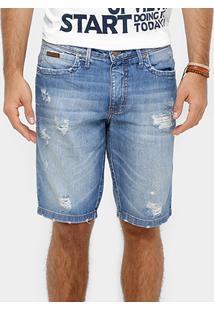 Bermuda Jeans Colcci Stone Rasgos Masculina - Masculino