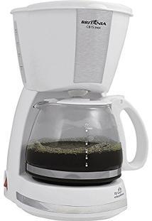 CafeteiraBritânia Cb15, Branco E Inox, Capacidade Para 15 Cafés, Filtro Removível, 110V