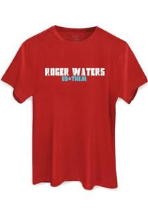 Camiseta Bandup! Roger Waters Us + Them Tour - Masculino-Vermelho