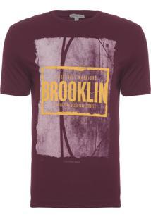 Camiseta Masculina Streetball Brooklin - Vinho