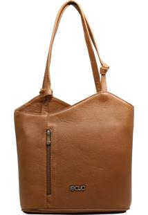 Bolsa Transversal Em Couro Recuo Fashion Bag Caramelo