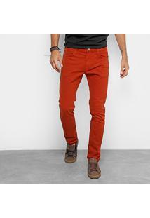 Calça Slim Colcci Felipe Sarja Masculina - Masculino-Vermelho Escuro