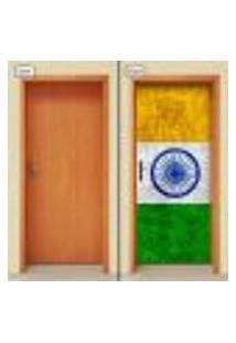Adesivo Decorativo De Porta - Bandeira Índia - 1895Cnpt
