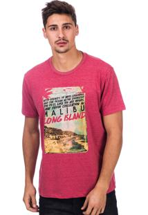 Camiseta Long Island Malibu Rosa