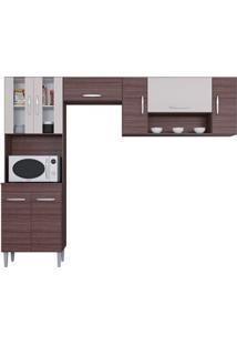 Cozinha Com 8 Portas Manuela Capuccino/Off White - Lc Móveis