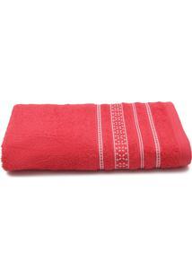 Toalha De Banho Santista Prata Dallas 70Cmx1,35M Vermelho - Vermelho - Dafiti