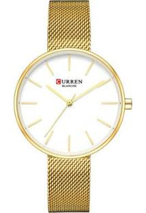 Relógio Curren Analógico C9042L Feminino - Feminino-Dourado