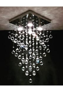 Lustre Plafon De Cristal Legítimo - Base Fina
