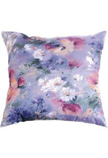 Capa De Almofada Floral- Rosa & Branca- 42X42Cm-Stm Home