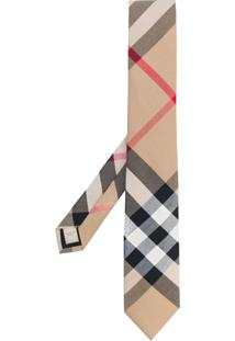 Burberry Gravata De Cashmere Xadrez - Estampado