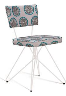 Cadeira Butterfly Retro Aço Daf Bege/Verde