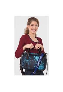 Bolsa Desigual Hand Bag Luna Rock Azul-Marinho