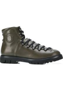 Bally Ankle Boot De Couro Com Logo - Verde