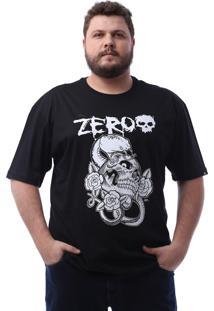 Camiseta Zero Poisonous Snake Preto