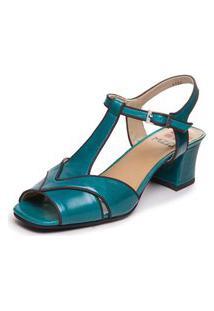Sandalia Feminina Brigitte Azul - Cobalto / Sued Cafe 5394