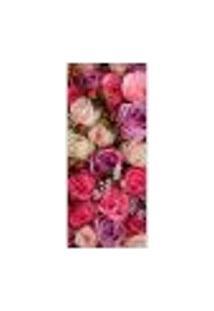 Adesivo Decorativo De Porta - Rosas - Flores - 246Cnpt Auto Colante