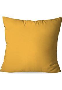 Capa De Almofada Avulsa Amarelo 45X45Cm