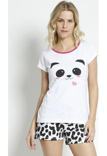 Short Doll Panda - Branco & Pretozulai