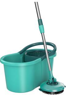 Mop Giratório 3 Em 1 - Flash Limp - Verde Agua