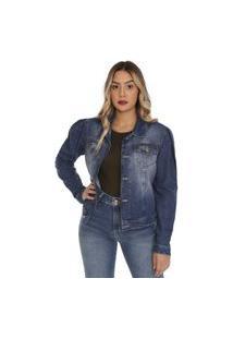 Jaqueta Jeans Feminina 264651 - Azul - Sawary