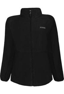 Jaqueta Columbia Feminina Basin Trail Fleece Plus Size - Feminino-Preto