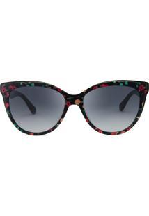 Kate Spade Daesha/S - Preto Florido - 7Rm/56 - Óculos De Sol