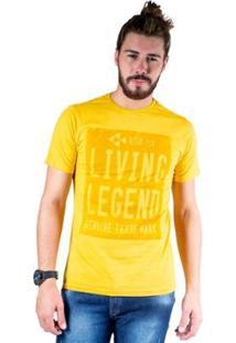 Camiseta Mister Fish Estampado Living Legend Masculina - Masculino-Mostarda